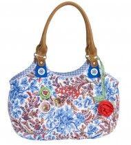 Oilily bag blue flowers