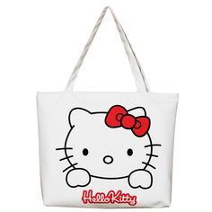 333436547975 Canvas Women Casual Tote Designer Lady Large Bag Cute 3D Printing Hello  Kitty Handbags Bolsas Shopping Bag Women Shoulder Bags