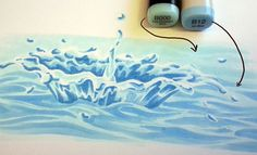 Tutorial on colouring a splash of water. Good tut!