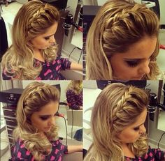 Hair Styles Festa Solto Longo 60 Ideas For 2019 Trendy Hairstyles, Braided Hairstyles, Natural Hair Styles, Short Hair Styles, Wedding Guest Hairstyles, How To Make Hair, Bridesmaid Hair, Bridesmaids, Hair Lengths