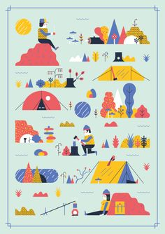 Camp Out by Andrew Groves, via Behance