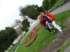 Al Burggarten, a tocar del Palau de Hofburg a Vièna (Àustria)