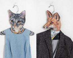 Animal head clothes hangers