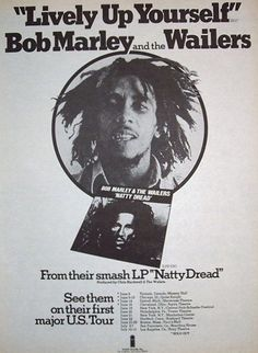 Bob Marley & The Wailers: 1975 Natty Dread Advert with Usa , Canada Tour Dates http://voiceofthesufferers.free.fr/memorb.html