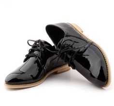 2015 NEW Spring Genuine Patent Leather Platform Oxfords Women Brogues Vintage Flats British Female Rubber Sole Shoes(China (Mainland))