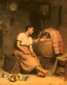 Paul Peel (1860 – 1892, Canadian) - Mother Love