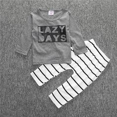 Baby Clothing Sets Boy's long-sleeved T-shirt + Pants Kids Spring Kids Costumes Set Monster Newborn