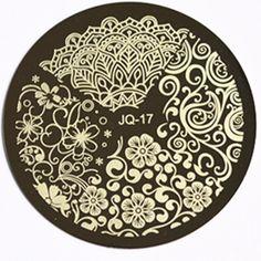 1 pc beleza flor estilos de impressão polonês prego carimbar placas de imagem Nail Art Manicure ferramentas de estilo # JQN 17 Stencils em Provas para arte de unha de Beleza & saúde no AliExpress.com | Alibaba Group