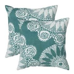 Add a splash of style to your sofa, chaise, or bed with this eye-catching pillow, the perfect companion to a glass of chardonnay and your latest book club read.  Product: PillowConstruction Material: Cotton cover and polyester fillColor: Teal Features:  Made in IndiaInsert included Dimensions: 18 x 18Cleaning and Care: Hand wash or machine wash in cold water. Lay flat to dry.