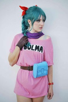 Spot On Bulma Cosplay From Dragon Ball - COSPLAY IS BAEEE! Tap the pin now to grab yourself some BAE Cosplay leggings and shirts! From super hero fitness leggings, super hero fitness shirts, and so much more that wil make you say YASSS! Belle Cosplay, Couples Cosplay, Cosplay Girls, Anime Cosplay, Epic Cosplay, Amazing Cosplay, Hallowen Costume, Halloween Cosplay, Dragon Ball Z Halloween Costumes