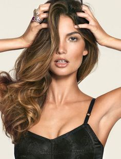 LILY ALDRIDGE - ANGEL AMBITION  Dolce & Gabbana Corset + Cartier Rings FLOSSY FLOSSY