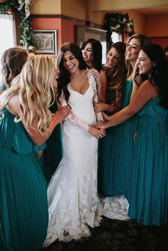 A boho wedding featuring an Essense of Australia wedding dress.