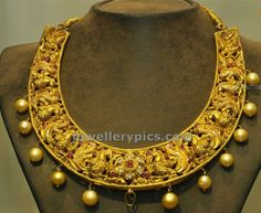 Gold hansil - traditional jewelelry design - Latest Jewellery Designs