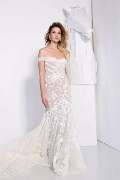 persy couture 2019 bridal off the shoulder sweetheart neckline full embellishment romantic fit and flare wedding dress chapel train mv -- Persy Couture 2019 Wedding Dresses Wedding Dress Trends, New Wedding Dresses, Bridal Dresses, Lace Dresses, Bridesmaid Dresses, Couture, Fit And Flare Wedding Dress, Dream Dress, Elegant Wedding