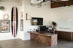 bibliophile - Mindy Gayer Design Co. - Mindy Gayer Design Co. Sunny California, Bar Lounge, Bibliophile, Built Ins, Home Kitchens, Home Office, Corner Desk, Lights, Interior Design