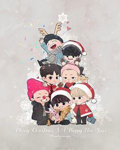 Bts Christmas Bts Christmas Bts Chibi Bts Fans Bts Christmas Performance At Sbs Gayo Daejeon Has Fans . Bts Christmas, Christmas Photos, Christmas Cards, Jimin Wallpaper, Christmas Wallpaper, Bts Chibi, Wattpad, Fanart Bts, Dibujos Cute