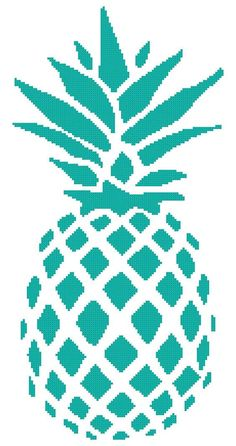 Perfect Pineapple a Counted Cross Stitch by WooHooCrossStitch: