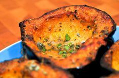 Grilled Squash with Asiago and Sage. This one calls for Acorn Squash, but 1 butternut can be substituted.