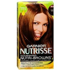 THIS IS GONNA BE MY NEXT HAIRCOLOR!!!! Garnier Nutrisse Level 3 Permanent Creme Hair color, Golden Brown B3 (Cafe Con Leche)
