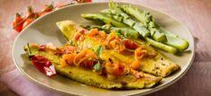 filetto di pesce con asparagi