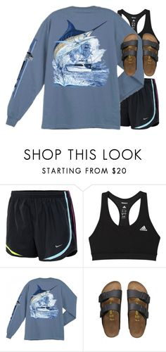 """""""YOLO"""" by rob-17 ❤ liked on Polyvore featuring NIKE, adidas, Guy Harvey and Birkenstock"""