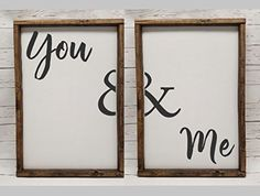 Master Bedroom Decor, for wedding head table, You & Me, Farmhouse sign, rustic decor, fixer upper style, bedroom, farmhouse, living room, family room, kitchen,  bathroom, master bedroom, home decor, DIY decor,  rustic,  modern,  framed farmhouse sign, farmhouse #afflink