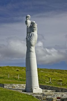 She stands alone. Our Lady of the Isles #SUist #OuterHebrides