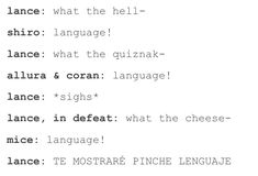 """LOL - I think he says """"I'll show you what language"""" in Spanish at that last line. (Courtesy of Google Translate)"""