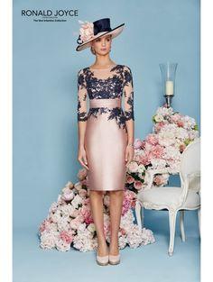 Veni Infantino 991125 Navy Lace Sleeve Blush Outfit Blush/navy
