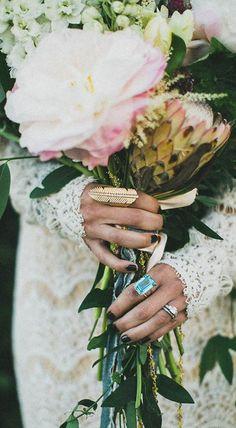 Non-traditional wedding bouquet