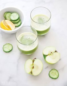 Apple, Cucumber and Lemon Juice