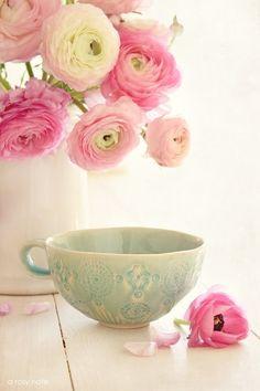 tea, cup, tea cup, pastel, pink