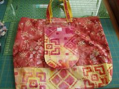 Yellow Snow Batik Reusable Grocery Bag by BaysideBags on Etsy, $16.50