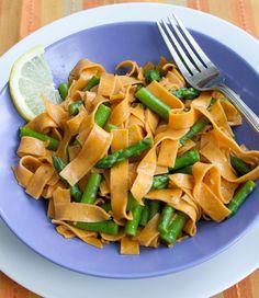 Saffron Ribbons with Asparagus #recipe