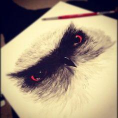 Trendy Ideas For Fantasy Art Tattoo Eyes Owl Sketch, Art Visage, Owl Illustration, Owl Eyes, Owl Art, Photo Art, Fantasy Art, Art Drawings, Art Photography