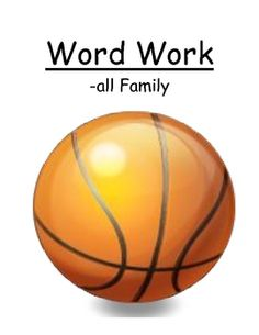 "Center Game ""The -all Family!"" Word Work / Phonics / Spelling  $"