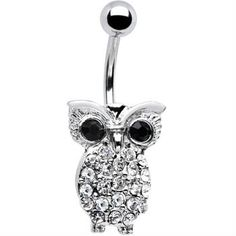 Owl bellybutton ring :) if i ever get the nerve to get it pierced lol