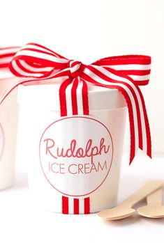 Learn how to make easy, no-churn Rudolph Ice Cream for Christmas! This special treat is simple to make and delicious! Christmas Ice Cream, Merry Christmas To All, Christmas Sweets, Christmas Candy, Christmas Colors, Christmas Cookies, Christmas Holidays, Christmas Kitchen, White Christmas