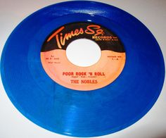 "1962 Doo Wop 45 Rpm The Nobles POOR ROCK N ROLL / TING A LING On Times Sq. 1.. ""Poor Rock'n'Roll"" was recorded in the winter of 1957, immediately following attack by boston and New Haven city officials on the Alan Freed touring ""Big Beat"" rock and roll stage shows. A near riot in Boston led to the subsequent banning of Freed' show in New Haven which directly inspired the Nobles' song. They recorded ""Poor Rock'n'Roll"" and ""Ting A ling""for the Marty Kugell Klik Records Label."