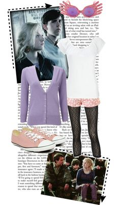 """Luna Lovegood"" by hannah-banana ❤ liked on Polyvore"