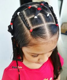 Child Hairstyles, Cute Toddler Hairstyles, Dance Hairstyles, Little Girl Hairstyles, Cute Hairstyles, Afro Ponytail, Girl Hair Dos, Cute Toddlers, Hair Bows