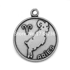 Alloy Aries Signs Charm Aries Jewelry Accessory Making Charm