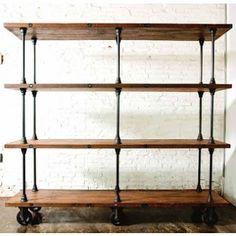 { Happy Habitat }: reclaimed wood shelves