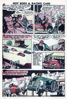 Comic Book Cover For Hot Rods And Racing Cars #10 - 1953  - Twobyfour