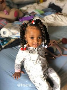 Cute Mixed Babies, Cute Black Babies, Black Baby Girls, Beautiful Black Babies, Cute Baby Girl, Black Kids, Lil Girl Hairstyles, Bandana Hairstyles, Black Women Hairstyles