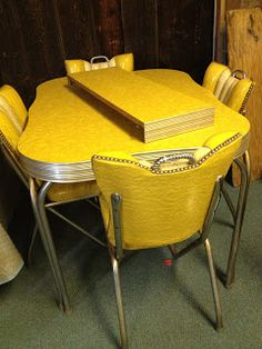C. Dianne Zweig - Kitsch 'n Stuff: Cleaning Up Chrome Legs On Formica And Chrome Vintage Kitchen Tables And Chairs