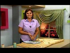Como hacer un Drapeado con Cascadas, (patron pino). 5/5 - YouTube