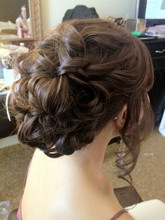swept up hair updo (except for hanging sides...)