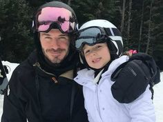Photos: David and Victoria Beckham hit the slopes in Whistler
