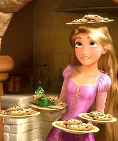 so cute! Rapunzel is just my favorite Disney princess. :) And Pascal's face...
